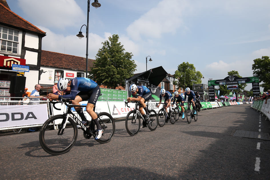 Tour Series. Stevenage. Andrew Tennant, Harry Tanfield, Charles Page, Charlie Tanfield, Chris Opie